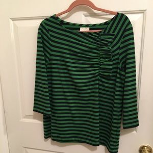 NWOT AUTHENTIC KATE SPADE NAVY/GREEN STRIPES 👚